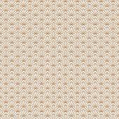 Art deco gold line scale geometric style pattern