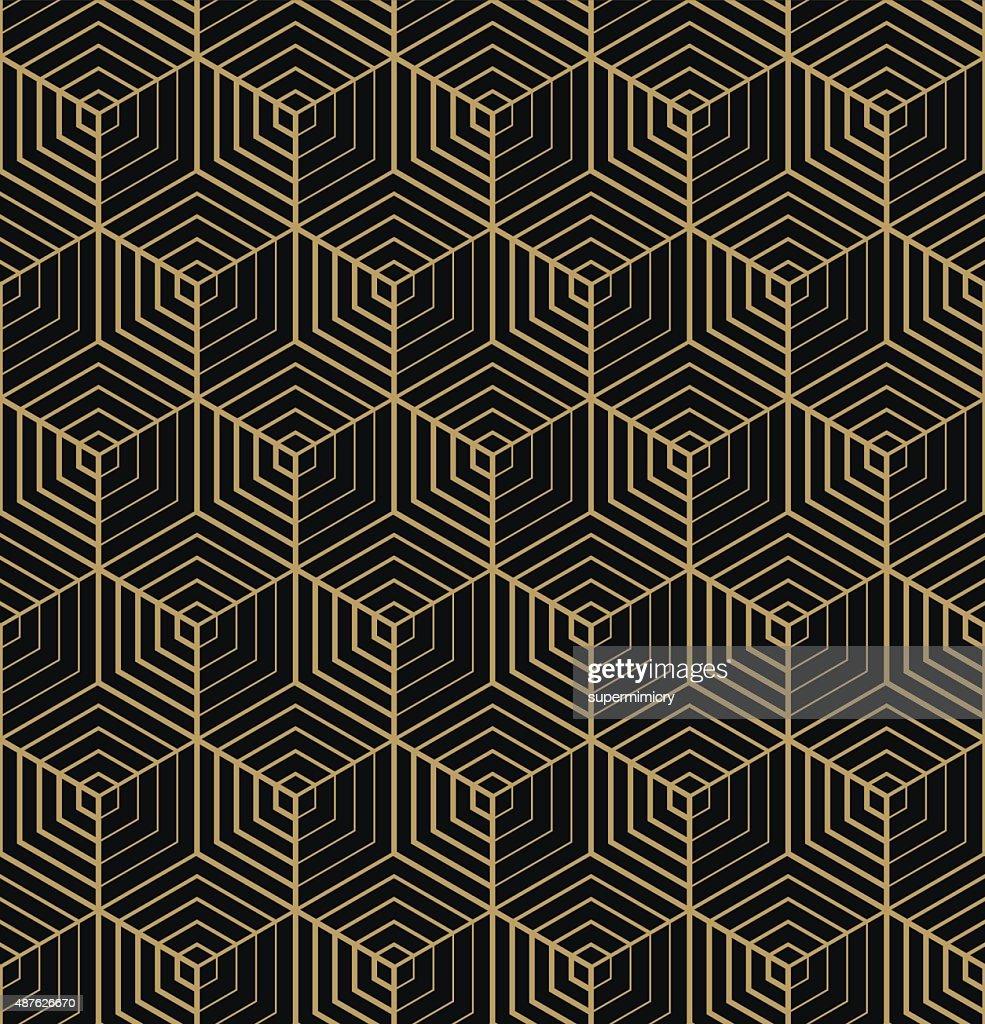art deco hexagonal pattern.