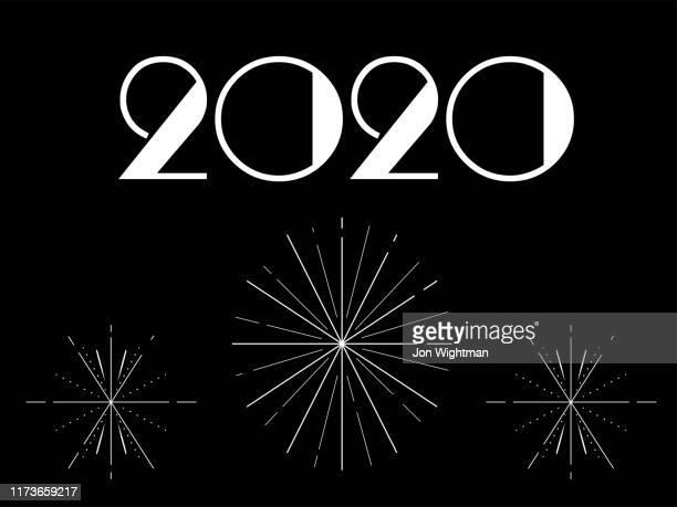 art deco new year card - gatsby image stock illustrations