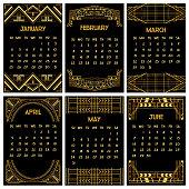 Art Deco or Gatsby Calendar 2015