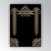 Art Deco page design antique style .
