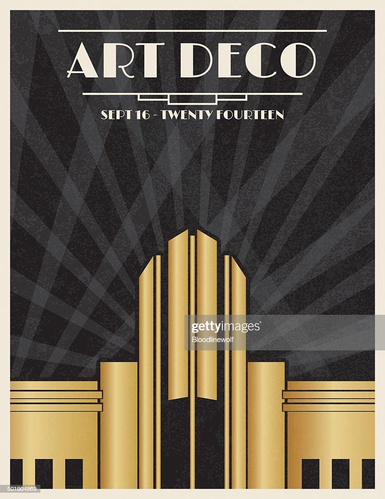 Art Deco Party Invitation Template