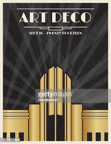 Art Deco Party Invitation Template Vector Art | Getty Images