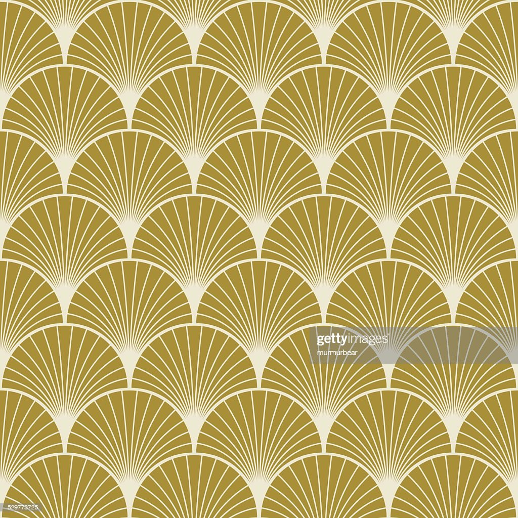 art deco pattern of overlapping arcs