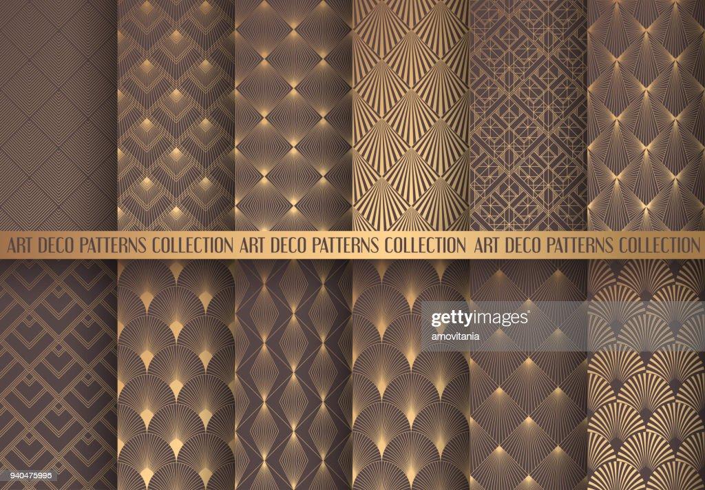 Art Deco Patterns Set