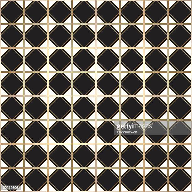 art deco seamless pattern - gatsby image stock illustrations