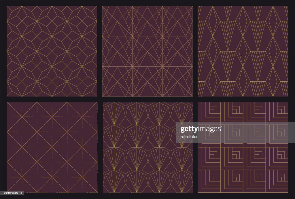 6 Art Deco seamless pattern