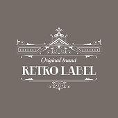 Art Deco Style Elegant Monogram - Retro Frame