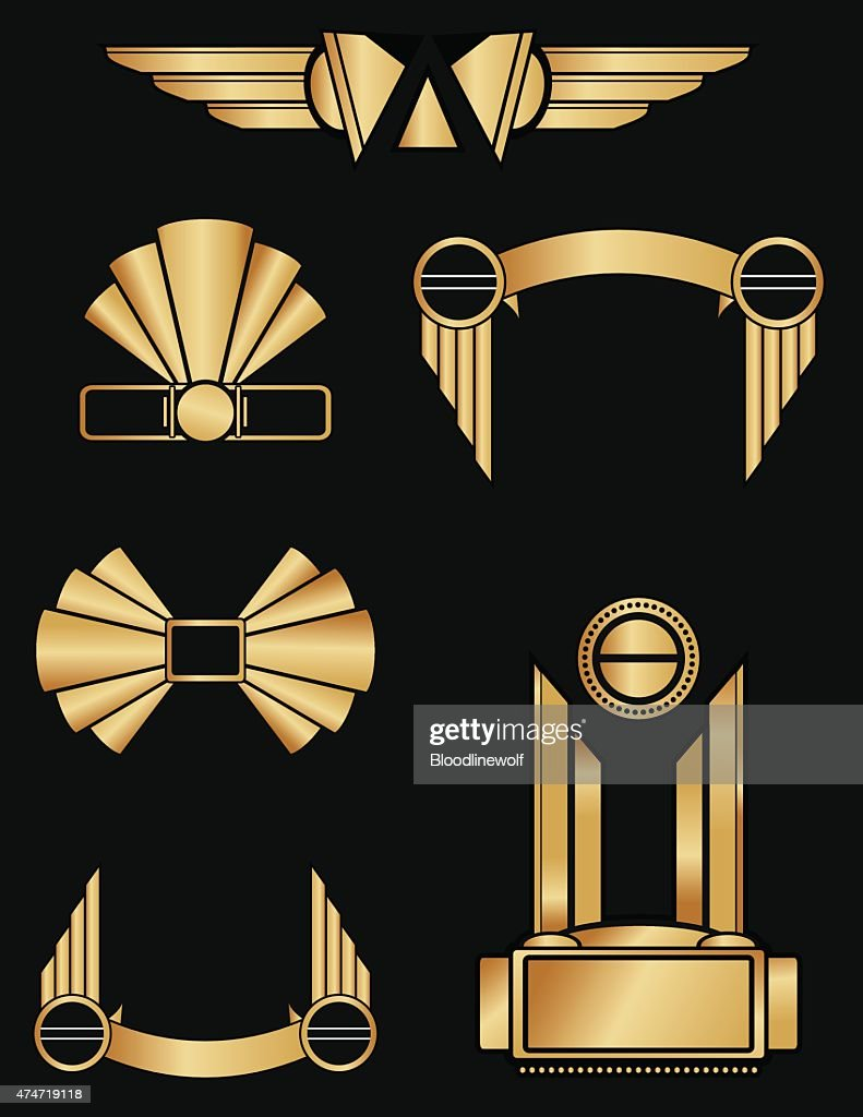Art Deco Style Living Room: Art Deco Style Geometric Ornaments And Decorations In