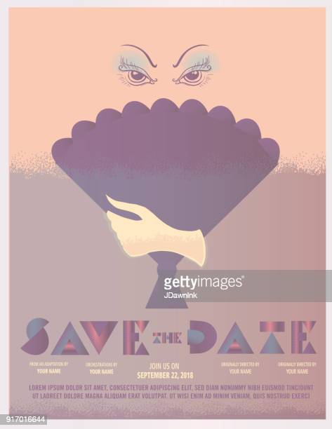 アールデコ スタイルの招待状のデザイン テンプレート - 映画のポスター点のイラスト素材/クリップアート素材/マンガ素材/アイコン素材