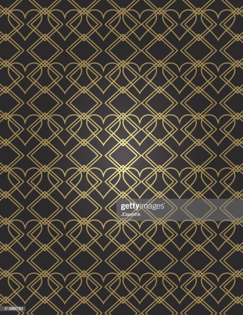 Art deco style vintage background with heart pattern vector art art deco style vintage background with heart pattern vector art voltagebd Images
