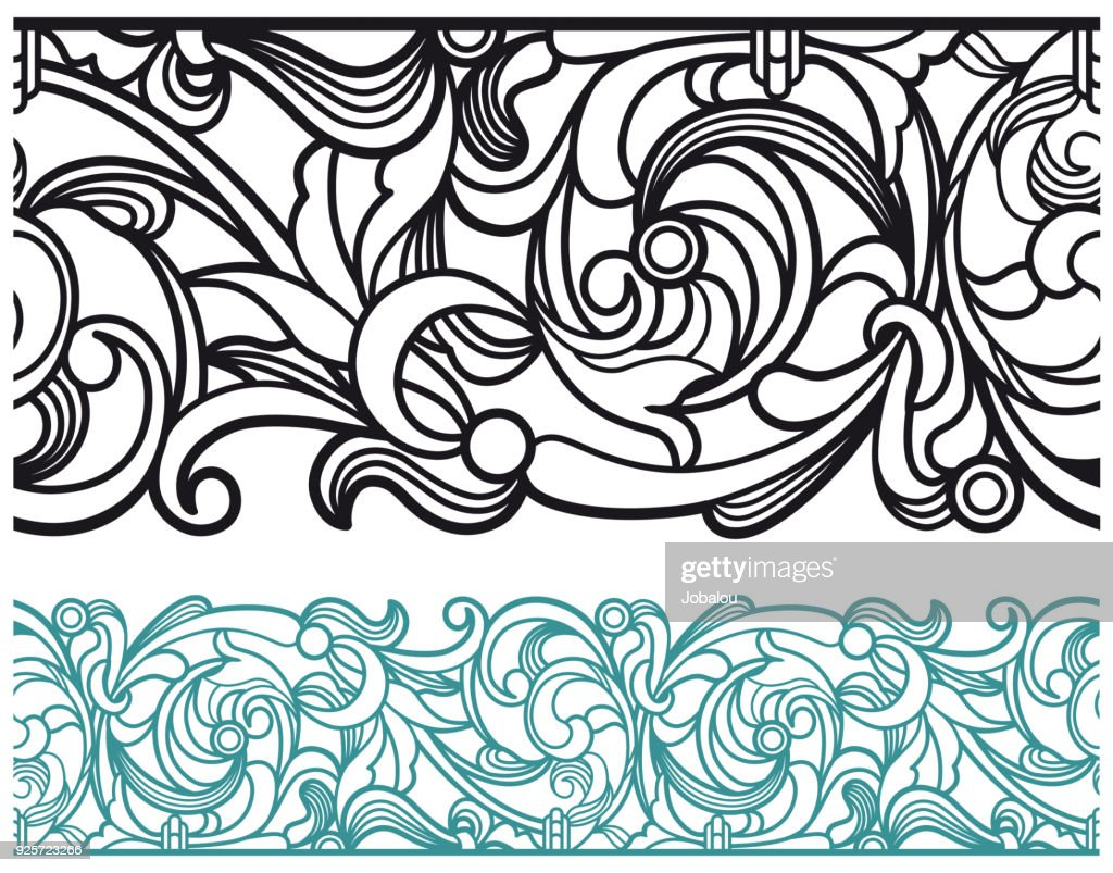 Art Deco Vector Line Border