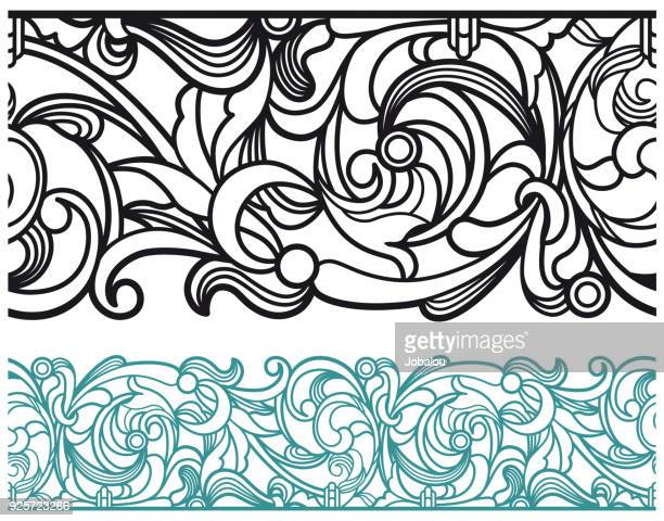 art deco vector line border - nice france stock illustrations, clip art, cartoons, & icons