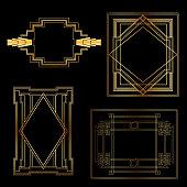 Art Deco Vintage frames and design elements