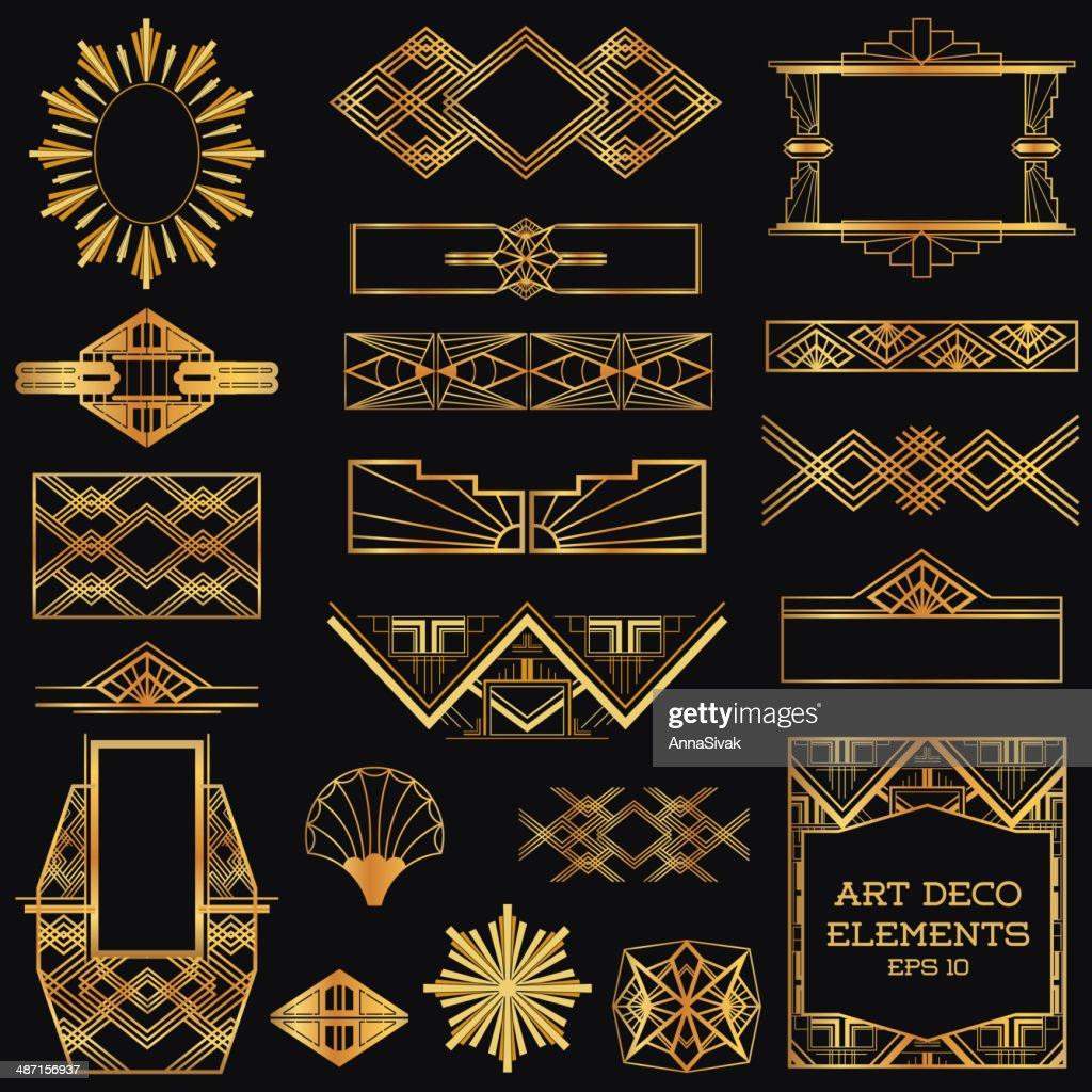 Art Deco Vintage Frames and Design Elements
