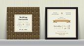 Art Deco Wedding Invitation Card in Gold and Black Colour