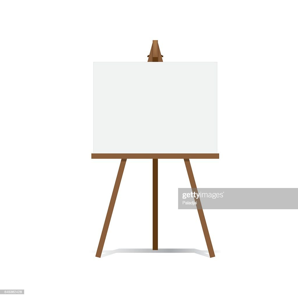 Art Easel and blank canvas space ready for your advertising.
