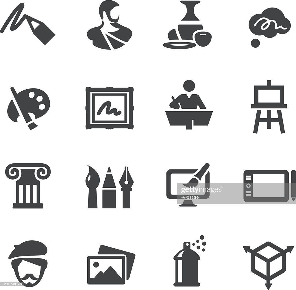 Kunst und Bildung-Icons Set-Acme Serie : Stock-Illustration
