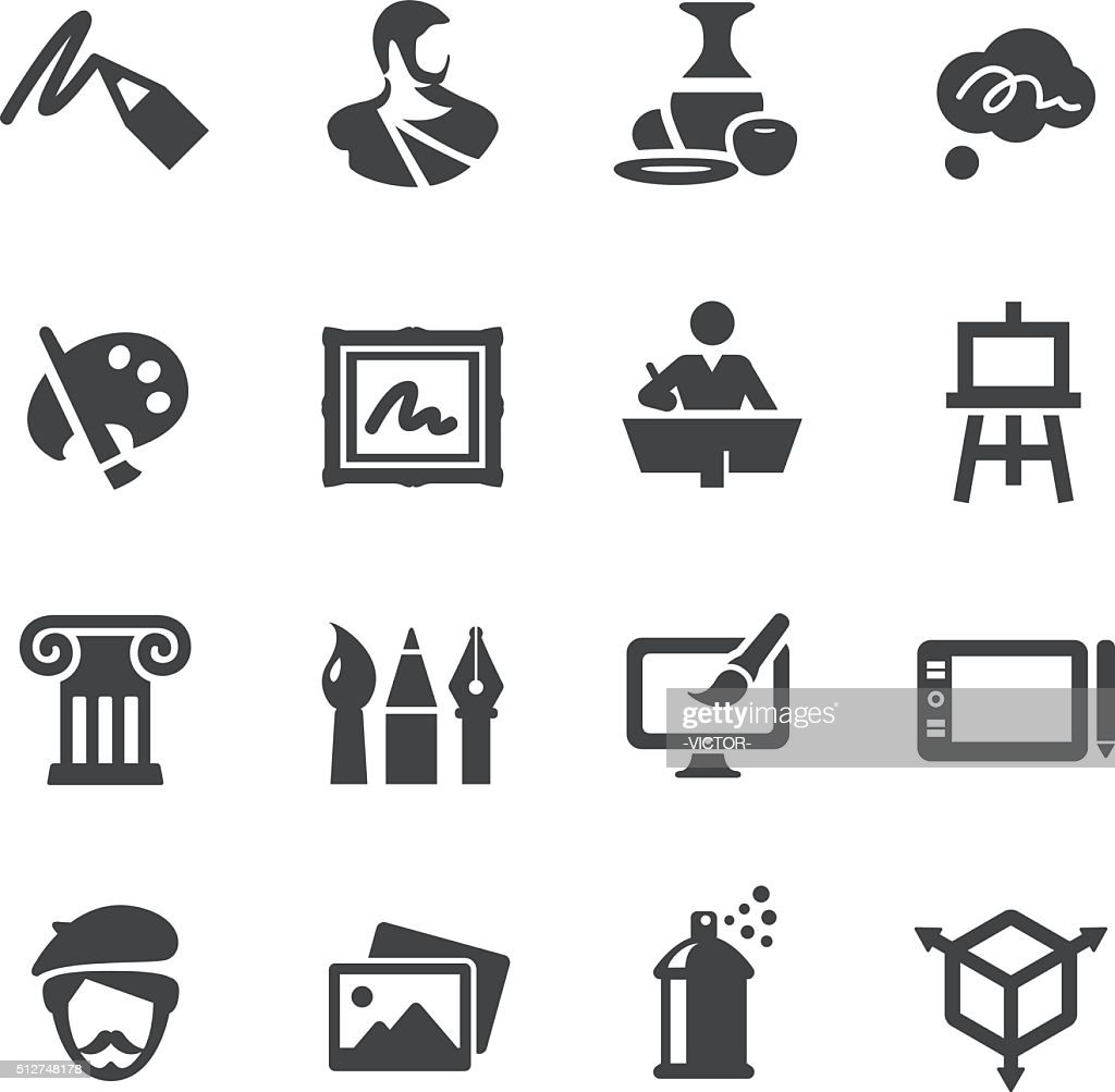 Art Education Icons Set - Acme Series