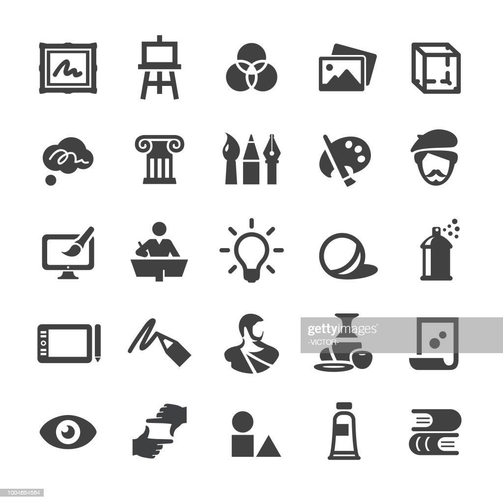 Set icone educazione artistica - Smart Series : Illustrazione stock