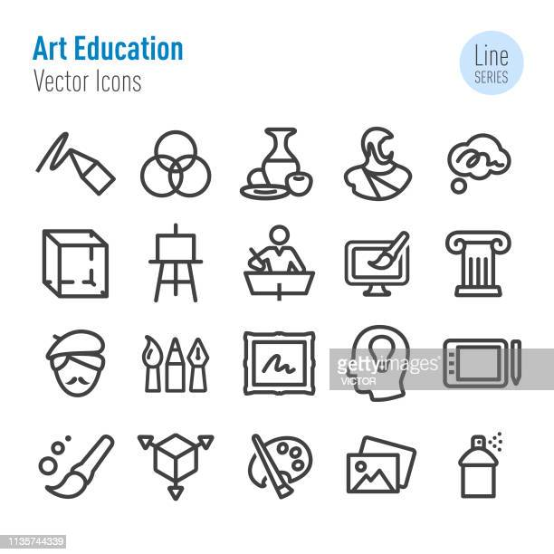 Art Education Icons - Vector Line Series