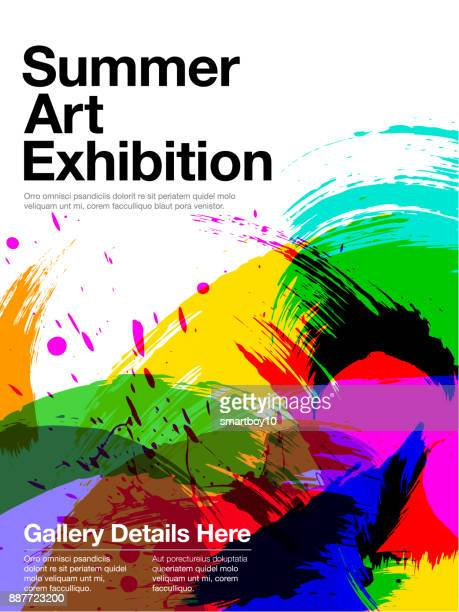 art exhibition poster - art and craft stock illustrations