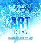 Art festival. Template poster. Vector illustration
