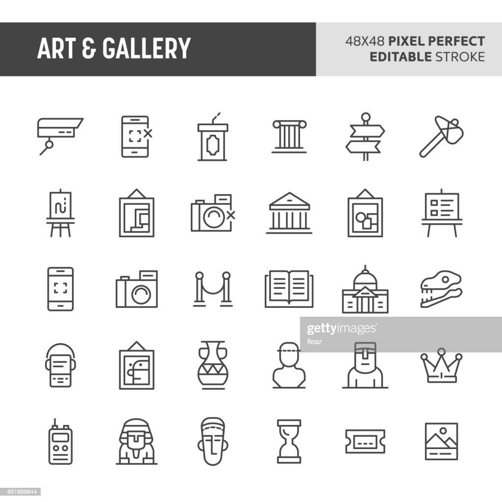 Art & Gallery Vector Icon Set
