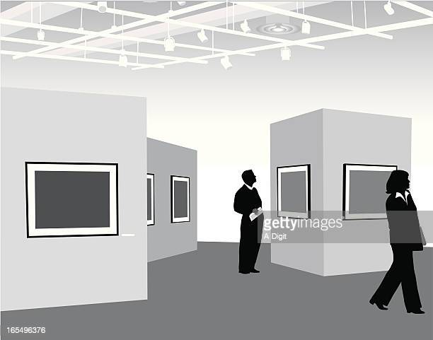 Art Gallery Vector Silhouette
