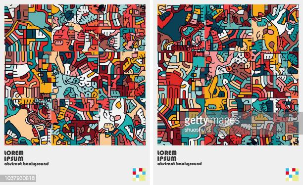 art graffiti pattern background - arts culture and entertainment stock illustrations