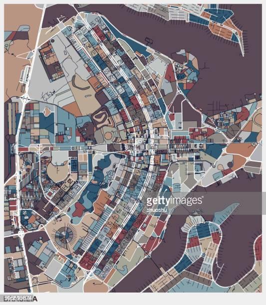 kunst abbildung kartenhintergrund, brasilia-stadtplan - brasilia stock-grafiken, -clipart, -cartoons und -symbole