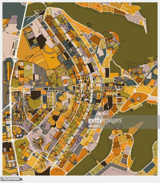art illustration map of brasilia - distrito federal brasilia stock illustrations