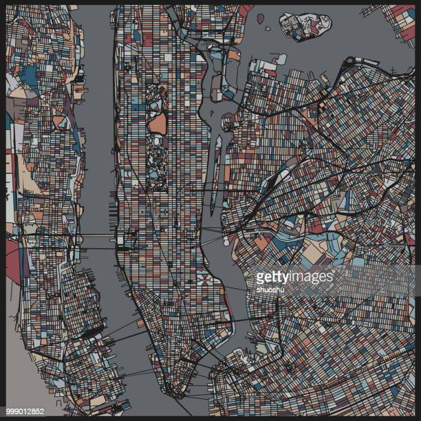 Kunst Illustration Stil New-York-City-map