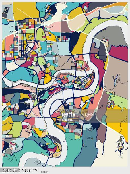 art map,Chongqing city of China