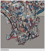 art map,Kowloon Peninsula of Hongkong