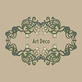 Art nouveau, art deco, modern, vintage elements