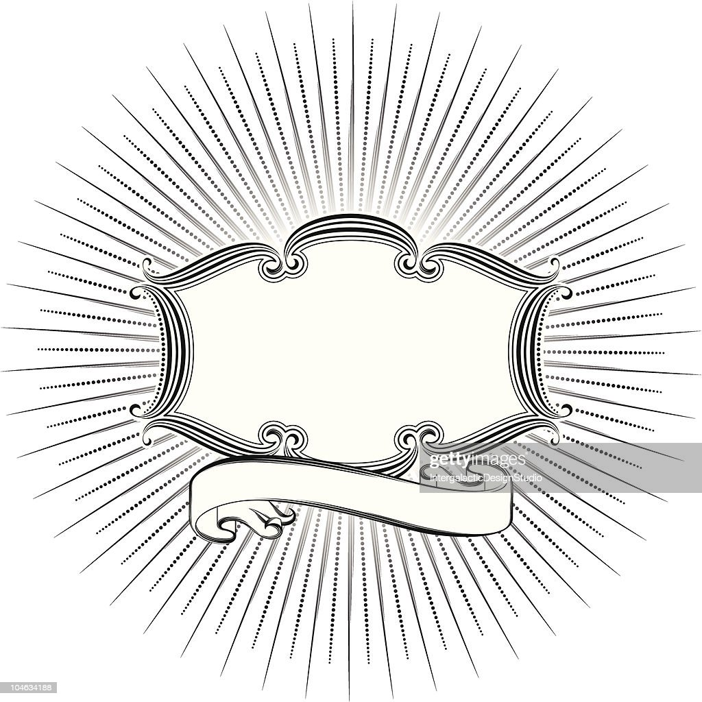 art nouveau frame and banner high-res vector graphic - getty images  getty images