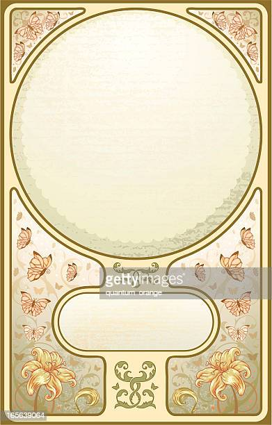 art nouveau frame - art nouveau stock illustrations, clip art, cartoons, & icons