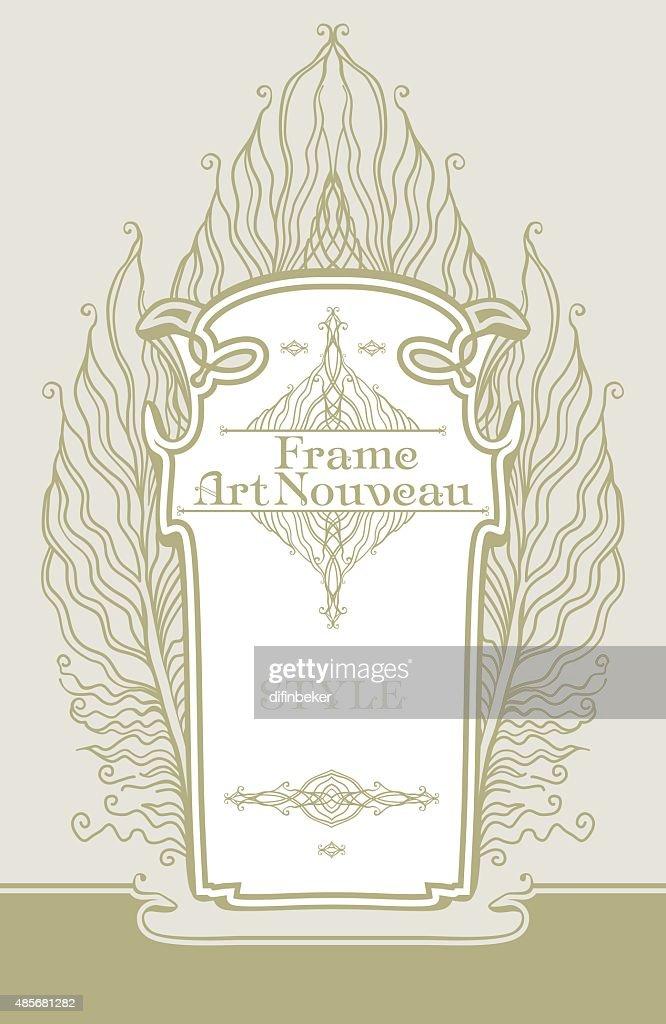Art Nouveau frame.