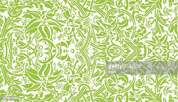 アールヌーボー植物-ベクトル - リーフ柄点のイラスト素材/クリップアート素材/マンガ素材/アイコン素材