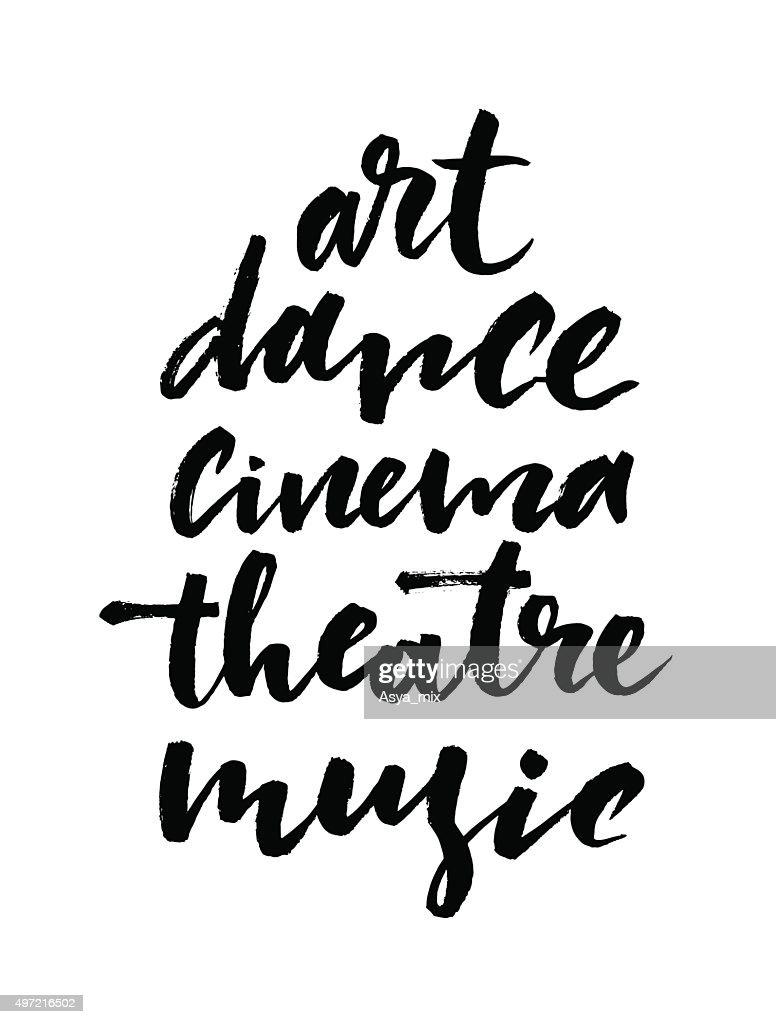 Art poster or card. Modern brush lettering.
