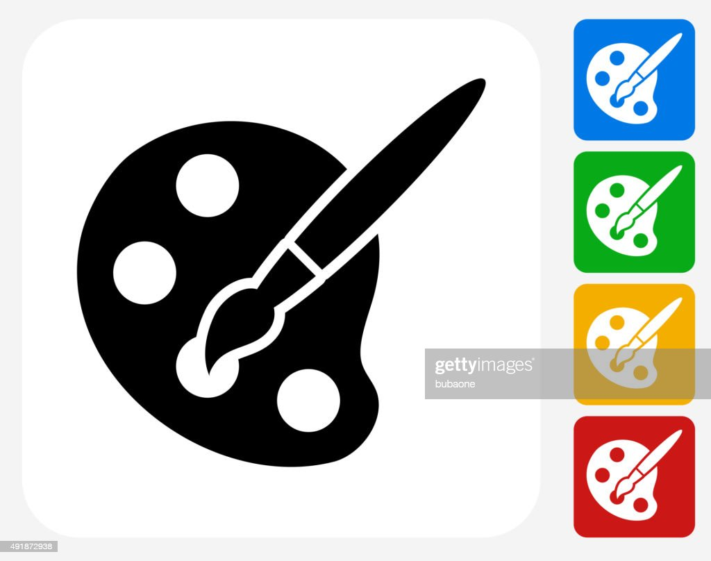 Art Tool Icon Flat Graphic Design