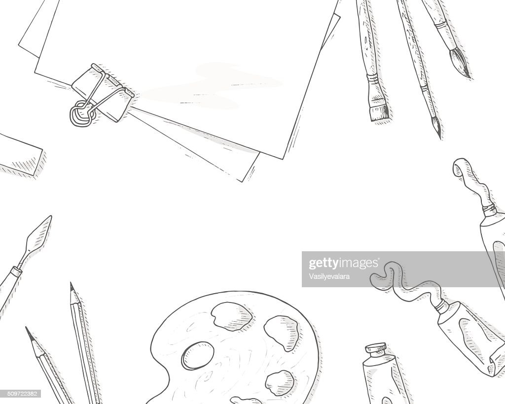 Art tools background