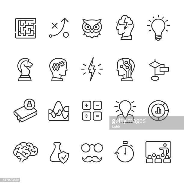 artificial intelligence and mind related vector icon set. - reveal stock illustrations, clip art, cartoons, & icons