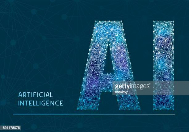 illustrations, cliparts, dessins animés et icônes de bannière de l'intelligence artificielle - imitation