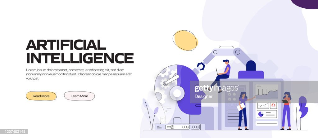 Artificial Intelligence Concept Vector Illustration For ...