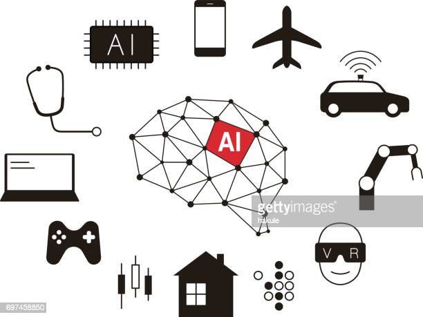Artificial intelligence connect the future, vector illustration
