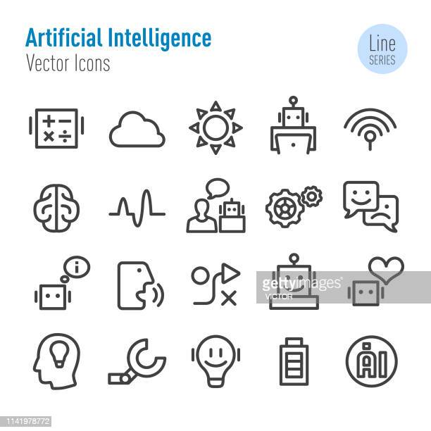 Artificial Intelligence Icons - Vector Line Series