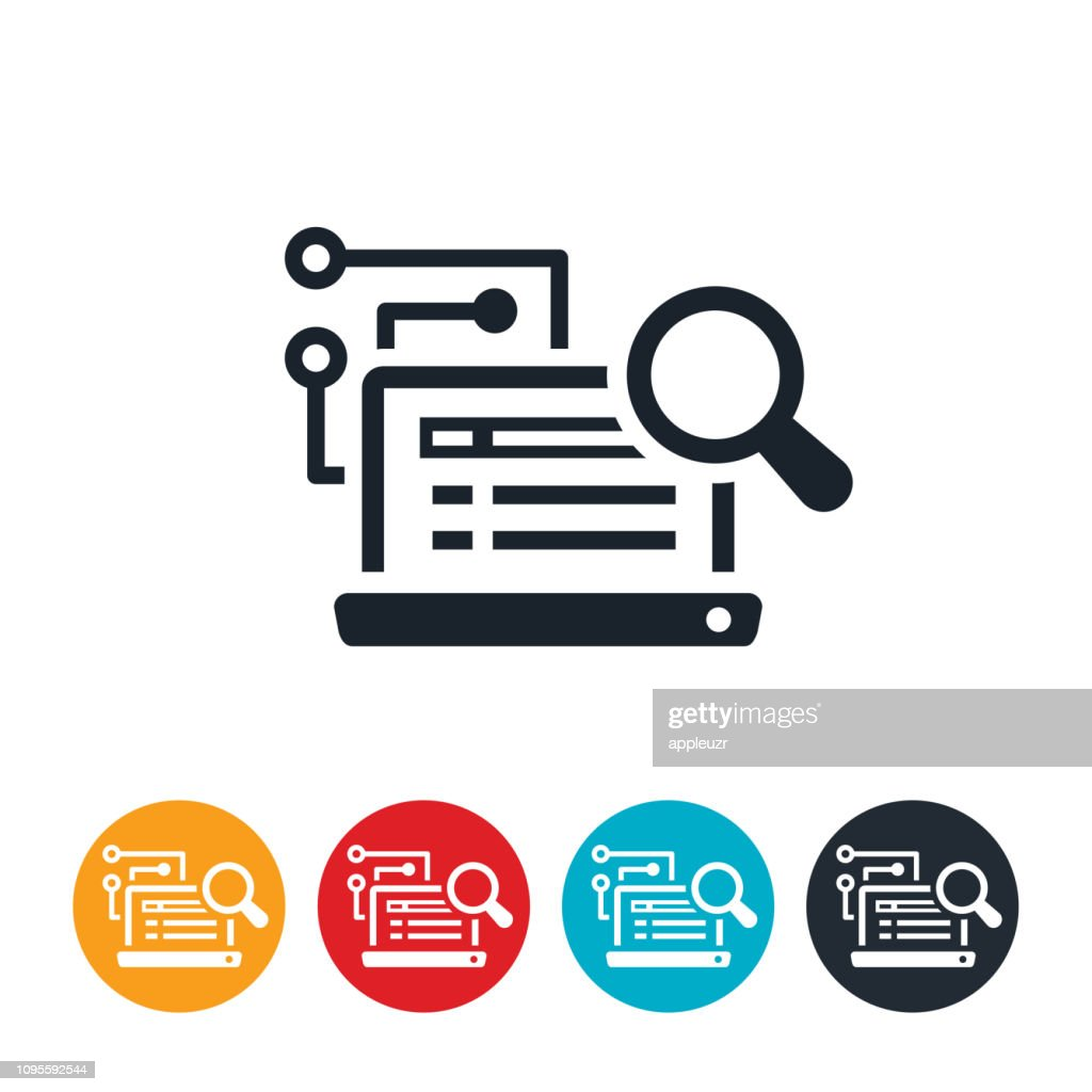 Artificial Intelligence in Online Search Icon : stock illustration
