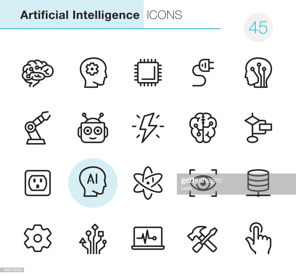 Artificial Intelligence - Pixel Perfect icons : Illustrazione stock